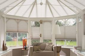 Duette® Shades in conservatory